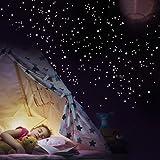 'selbstklebend Wandsticker Wandkings 250teilig Leuchtpunktsucher für einen Sternenhimmel fluoreszierend &