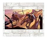 Stickers Muraux Zelda Stickers Papier Peint Dessin Animé Animation Stickers Muraux Chambre Imperméable Stickers Décoratifs Muraux 103X54Cm A