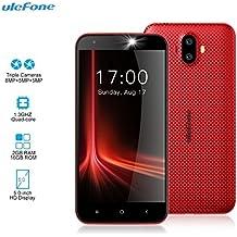 "Smartphone Libre - Ulefone S7 [2018 Última Versión 2GB RAM 16GB ROM] 5.0""HD Teléfono Móvil con Cámara Triple (5MP + 8MP + 5MP) Android 7.0, MTK 6580 Quad Core 1.3GHz, 2500mAh, rojo"