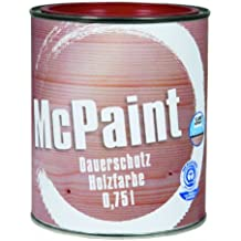 McPaint Permanent Protection Wood Colour Swedish Red 0.75 Litres