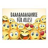 Große XXL Dankeskarte mit Umschlag/DIN A4/Danke für Alles Emojis/Dankeschön/Danke sagen/Danksagung