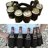 Inovey Outdoor-Six-Pack Bier Gürtel Flasche Taille Tasche Tragbare Getränk Getränkedosen Halter Camping Sammeln