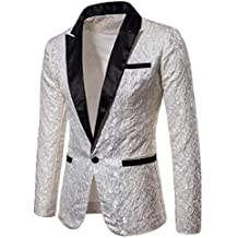 chaqueta lentejuelas - Blanco - Amazon.es