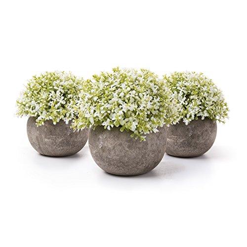 T4U Plantas Artificiales Plásticas Flor