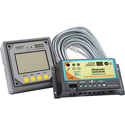 20A SOLAR-LADEREGLER mit LCD-Display und-Kabel für 12/24V Akku