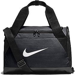 Nike Nk Brsla XS Duff Bolsa de Deporte, Hombre, Negro Black/White, Talla Única