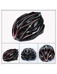 Ocean Pacific Bicicletta Casco da Bici Casco Equitazione Senza Resistenza Strada da Uomo e Donna Modelli,Pink