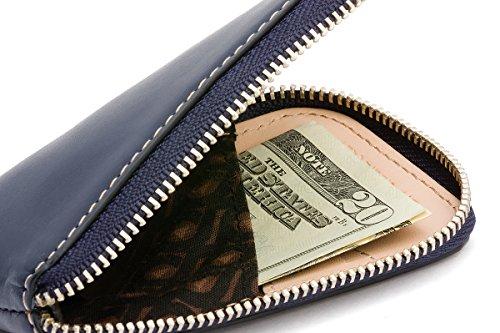 Bellroy Herren Leder Geldbörse und Karten Etui Card Pocket, Farbe: Caramel Blue Steel