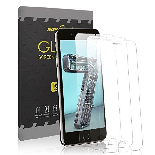 NONZERS Pellicola Protettiva in Vetro Temperato per iPhone 5/5s/5C/SE/7/8/X, 9H Durezza e Ultra Resistente, 3 Pezzi (iPhone 7/8)