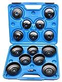 Coffret 15 pièces clés de filtres à huile, cloche pour filtre à huile