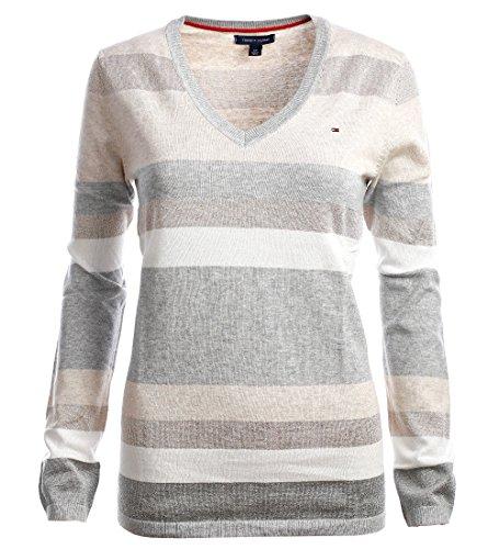 Tommy Hilfiger Damen V-Neck Pullover Pulli Strickpullover Größe Large