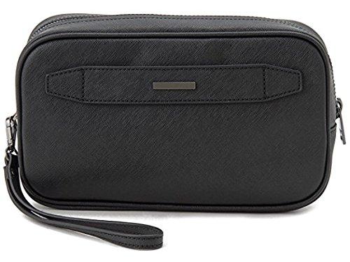 Armani Jeans Uomo Ecopelle borsa di lavaggio con Nero Unica Taglia