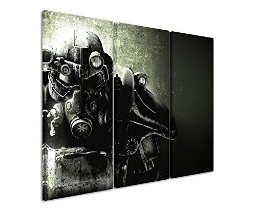 fallout bilder Leinwandbild 3 teilig Fallout_5_Game_3x90x40cm (Gesamt 120x90cm) _Ausführung schöner Kunstdruck auf echter Leinwand als Wandbild auf Keilrahmen