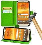 Gadget Giant Motorola Moto E5 Plus Case, Green Premium PU