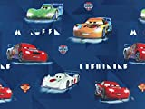 Baumwollstoff Cars Sportwagen, Meterware ab 0,5 m / 100% Baumwolle / Top-Qualität