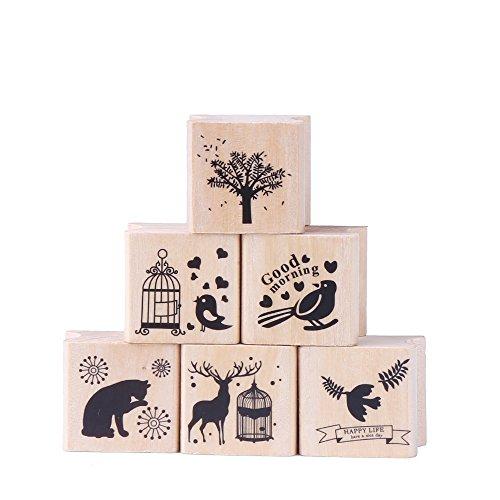 ccinee-set-de-6pcs-bosque-estilo-sellos-de-goma-de-madera-para-scrapbooking-manualidades-y-a-mano-di