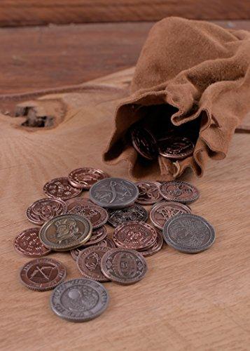 Lederbeutel, groß, braun – Geldbeutel – Wikinger – Mittelalter – LARP - 3