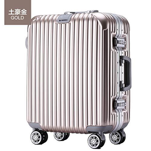 CHENYAJUAN Gepäcktaschen Business Krawatte Boxen Koffer Kontrollkästchen Gepäcktaschen. Champagner Gold 24 Zoll