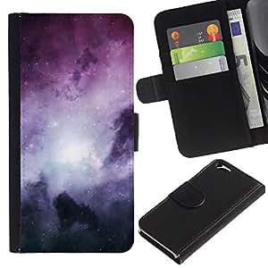 UNIQCASE - Apple Iphone 6 4.7 - Space Planet Galaxy Stars 62 - PU Leder Schlank Case Cover Schwarz Kunststoff Case Cover Shell Rüstung Hülle