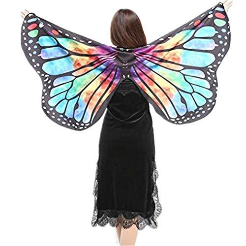 TIFIY Damen Halloween Schmetterling Schal Mädchen Cosplay Pixie Vertuschen Outwear Beach Kostüm Zubehör Party Kleidung Heißer (Disney Pixie Kind Kostüm)
