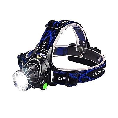 LED-Stirnlampe von victpower, 1000Lumen, fokussierbare Wiederaufladbare LED-Stirnlampe mit 4Modi, Perfekt fürs Laufen, Camping, Wandern, Gassigehen und Arbeiten