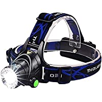 LED Headlamp,VICTPOWER 1000 Lumens Zoomable Rechargeable LED Head Torch with 4 Modes Head Light Perfect for Running, Camping, Hiking,Walking the Dog and Working