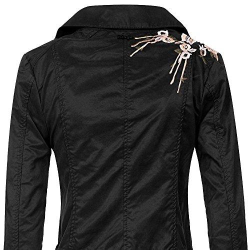 khujo Damen Jacke Solida Jacket Schwarz