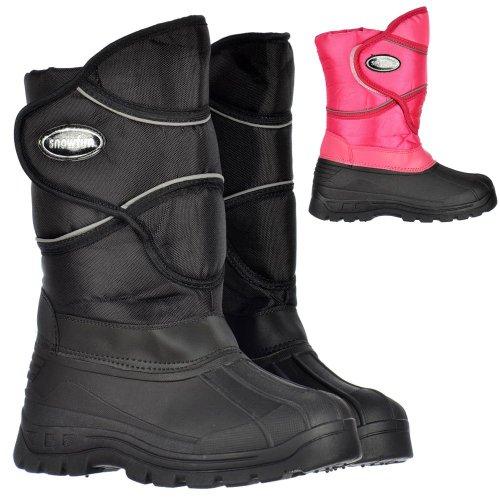 Signore delle Onlineshoe donne caldi stivali da pioggia invernale termica Neve Mucker Wellington Rosa
