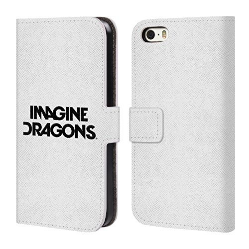 Offizielle Imagine Dragons Night Visions Plattencover Kunst Brieftasche Handyhülle aus Leder für Apple iPhone 6 / 6s Logo