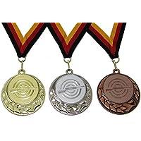JoGo Medaille (Serie in den Farben Gold, Silber und Bronze), Motiv Luftgewehr mit Band