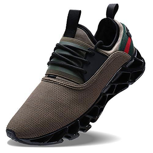 Wonesion Herren Fitness Laufschuhe Atmungsaktiv Rutschfeste Mode Sneaker Sportschuhe,   41 EU,   1-braun
