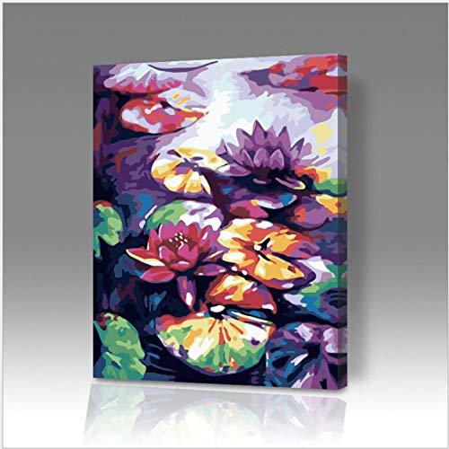 Wie Sie Lotus Notes Verwenden (dxefdmoin Pflanzen Lotus DIY digitales Ölgemälde manuelle Färbung Malerei dekorative Malerei Aquarell)