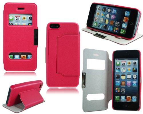 NEW Slim en cuir avec support latéral Mobile Étui portefeuille pour Apple i Phone 55C 5C