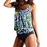 TWIFER Damen Tankini Bikini Bademode Badeanzug Slip Set Große Größen