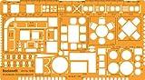 1:50 Architekt Schablone Zeichenschablone Möblierung - Innenarchitektur Technisches Zeichnen