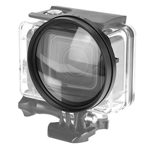D&F D & F 58mm Nahaufnahme Makro Filter Linse 10X Vergrößerung High Definition Objektiv für GoPro Hero 6/5 Gehäuse Case