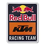 Red Bull KTM Racing Team Metallschild, Blau Unisex One Size Blechtafel, Red Bull KTM Factory Racing Original Bekleidung & Merchandise