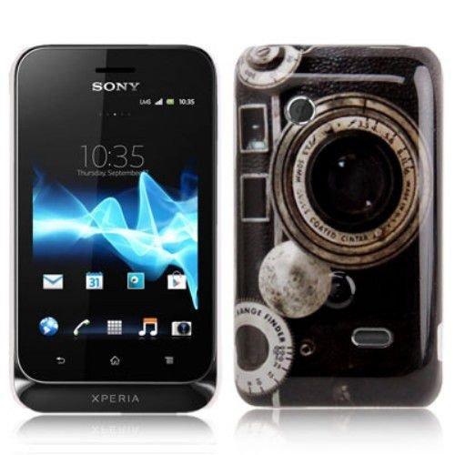 Hard Case / Cover caméra Sony Xperia tipo / ST21i avec l'objectif Range Finder étui de protection couverture arrière de Shell Vintage