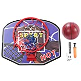 VGEBY1 Kinder Basketball Backboard, Kinder Mini Wand Basketball Spielzeug Set mit Rückwand, Reifen, Pumpe, Schraubenschlüssel, Schrauben & Muttern, Halterung (Blau)