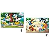Lot 2 Set dessous de table bureau 3D Mickey&Donald - Repas enfant- Modele1 et Modele2 - 548
