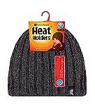 Heat Holders - Herren thermisch vlies gefüttert gerippt gestrickte Wintermütze / Hut in 4 Farben 3.4 Tog Einheitsgröße (Grau)