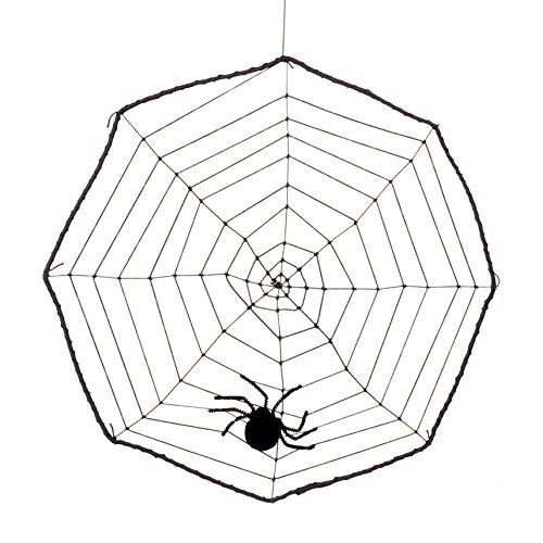 Boland 74470 - Spinnennetz mit Spinne, Dekorationen, Circa 40 - The Hunger Games Halloween Kostüm