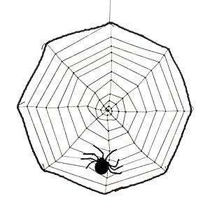Boland 74470 - tela de araña con araña decoraciones, alrededor de 40 cm