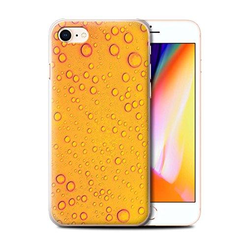 Stuff4 Hülle / Case für Apple iPhone 8 / Rosa Muster / Wassertropfen Kollektion Orange/Gelb