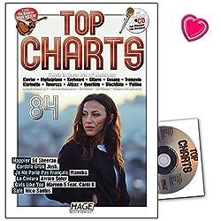 Top Charts 84 (mit CD) - Die aktuellsten Hits der erfolgreichsten Stars und das Beste aus den Charts! - Notenbuch für Klavier, Keyboard, Gitarre, Gesang mit CD und Notenklammer