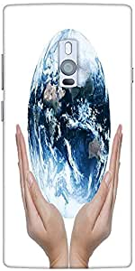 Snoogg Earth Globe Designer Protective Back Case Cover For One Plus Two