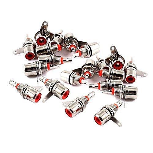 t RCA Buchse Stecker Adapter 20Stück ()