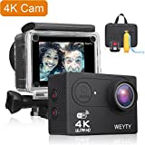 Waterproof Camera WeyTy X9S 4K Ultra HD Action Camera 12MP Remote Control Action Video Camera Wide-Angle Len Underwater Camera With Travel Bag And Full Accessories Compatible With GoPro Camera