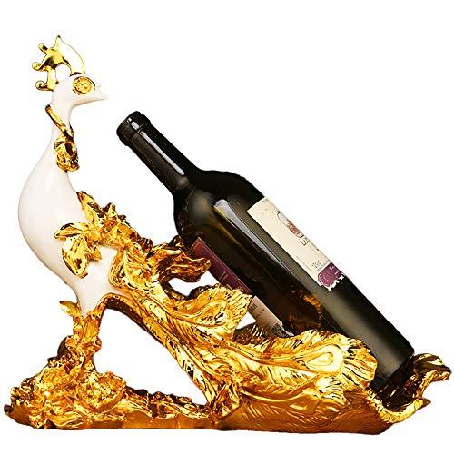 Weinregal Phoenix,Weinflaschenhalter mit Handarbeit Crafting Skulptur Handwerk dekorative Display Stand Inhaber Küchentheke Dekor oder Home Bar Housewarming Geschenke für Liebhaber -