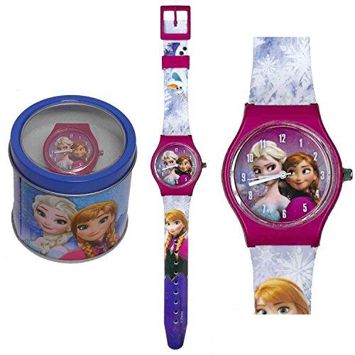 Frozen orologio analogico polso scatola latta (Celeste)